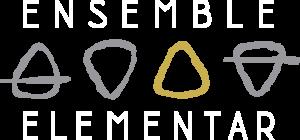 Logo Holzbläserquartett Ensemble Elementar farbig weiße Schrift - Till Haupt